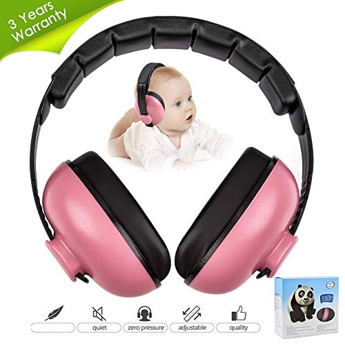 Baby Ear Protection Noise Cancelling Headphones for Kids Noise Reduction Hearing Protection Earmuffs for 0-3 Years Babies, Toddlers, Infant (Redrose)