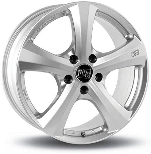 MSW 19 W Full Silver 7x16 ET30 4x100 Llantas de aleación