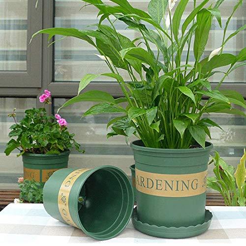 Plant Bloempot 1.5 Gallon Bloempotten Plant Kwekerij Potten Plastic Potten Creative Gallons Potten met Lade, Grootte: 20 * 19.5 * 19,5 cm Geschikt voor Alle Planten Bloempot