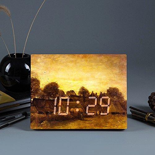 QXHELI groothandel bed kleine wekker LED smart hoofd kleine wekker creatieve LED-klok, g