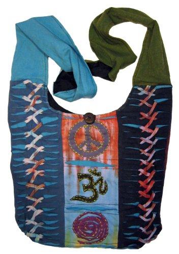 Bohemian Hippie Crossbody Peace Sign Shoulder Bag Purse