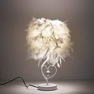 ALLOMN Lampe de Table de Chevet LED, Lampe Minimaliste Moderne Lampe de Bureau Vintage élégante Commutateur de Contrôle, P...