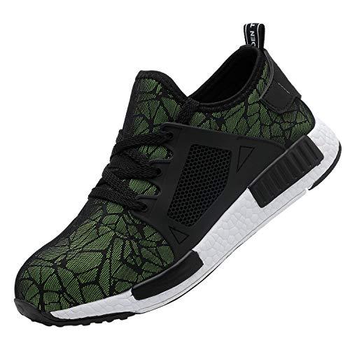 Zapatos de Seguridad Hombre Antideslizante Calzado Deportivo Excursionismo Suave...