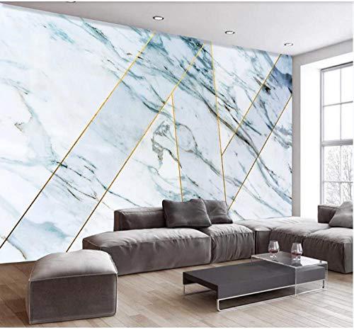 3D Wallpaper Canvas Art Print Wall Mural Poster Marbling Creative Geometric Gold Thread Photo Wallpapers Murals Picture Design Modern 320X230Cm