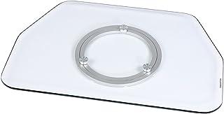 Hama TV Drehteller für Fernseher und Monitore (Bis 60 kg, Drehbar um 360°, 80 x 40 cm, Sicherheitsglas) transparent