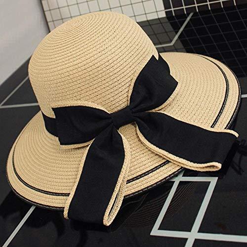 Yarmy hoeden voor dames, zomer zonnebrandcrème hoed vakantie groot langs de boog hoeden gemakkelijk te vouwen en outdoor reizen essentieel