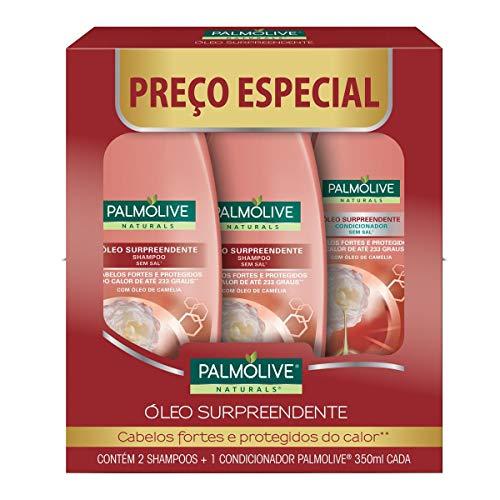 Shampoo Palmolive Naturals Óleo Surpreendente 350Ml Promo Leve 2 Shampoos + 1 Condicionador