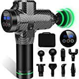 Muscle Massage Gun,Portable Muscle Massager Muscle Electric Gun with 20 Adjustable Speed and 8 Heads
