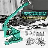 Occhiello punch Machine, Occhiellatrice, Pinza Punzonatrice Perforatore Pinza a Fustella per striscioni, borse, scarpe, con 1500 occhielli e 3 matrici, 6 mm/10 mm/12 mm