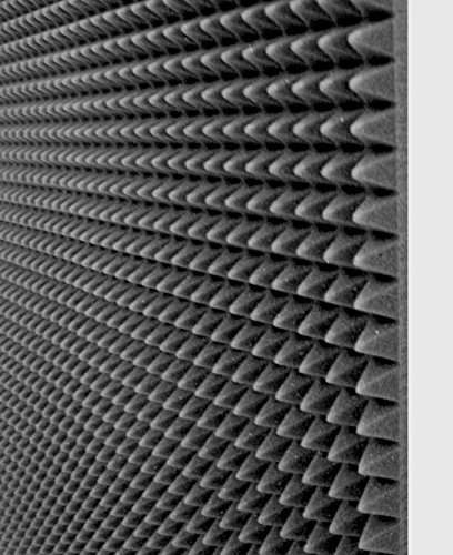 10 Pannelli fonoassorbente 100x100x3 Cm 10mq piramidale per correzione audio in poliuretano insonorizzanti isolamento...