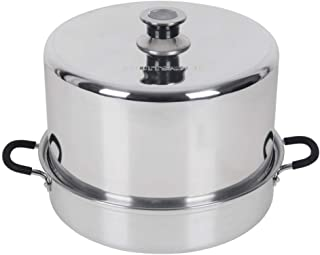 Roots & Branches VKP1054 FruitSaver Aluminum Steam Canner with Temperature Indicator, 7 Quart Jar capacity, Silver