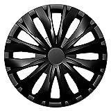 CM DESIGN Radkappen 16 Zoll Optic schwarz Radzierblenden für viele Verschiedene Fahrzeugtypen und Jede handelsübliche Stahlfelge