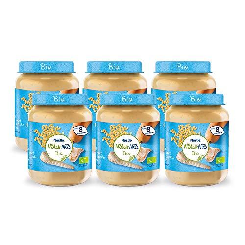 Naturnes Bio Pastinaak, Pompoen, Volkoren Pasta, Kalkoen 8+ maanden babymaaltijd - 6 potjes van 190 gram
