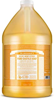 Dr. Bronner's - Pure-Castile Liquid Soap (Citrus, 1 Gallon) - Made with Organic Oils, 18-in-1 Uses: Face, Body, Hair, Laun...