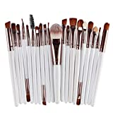 Pincel de maquillaje  20 Pincel de maquillaje Set Eye Shadow Foundation Powder Eyeliner Eyelash Lip Makeup Brush Cosmetic Beauty Tool Kit Puerta 20Pcs