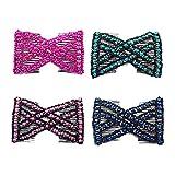 4 Pièces Pince à Cheveux Perles Magiques Double Femmes,Pince à Cheveux Extensible,Peigne à Cheveux Magique Perlé Double Stretch,Coiffure Epingle Accessoire
