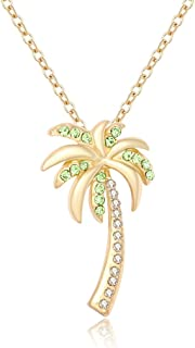 Best crystal palm tree necklace Reviews
