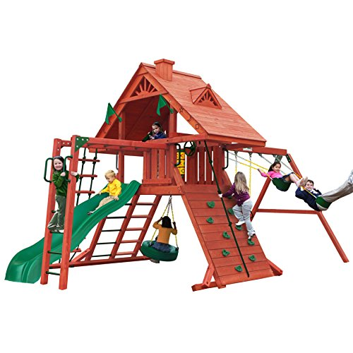 Sun Palace Cedar II Swing and Play Set with Two...