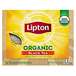 Lipton Organic Black Tea, 72 ct