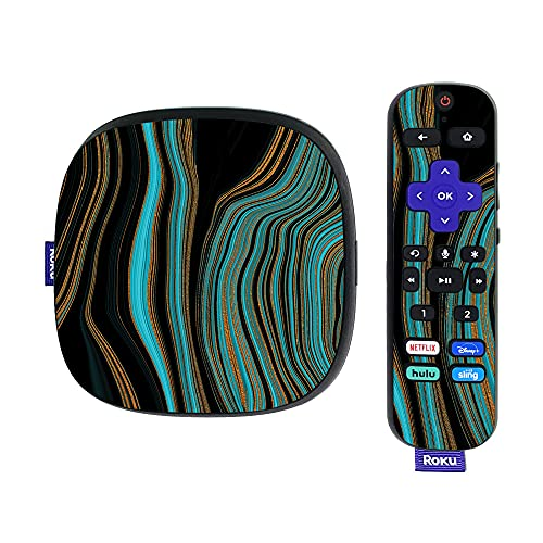 MightySkins Skin Compatible with Roku Ultra HDR 4K Streaming Media Player (2020) - Blue Canyon | Protective, Durable, and Unique Vinyl Decal wrap Cover | Easy to Apply and Change Styles | Made in The