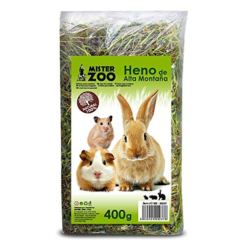 MISTER ZOO Heno Natural para Roedores, 400 gr