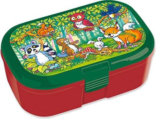 Lunchbox * WALDTIERE * für Kinder | 10671 | Perfekt für Tier-Fans | Vesperdose Brotdose Brotzeit Schule Grundschule Einschulung Wald Tiere