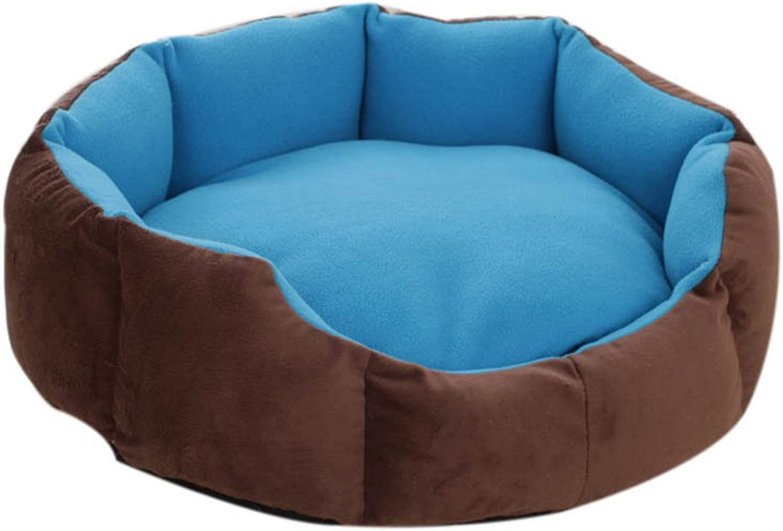 Octagonal Detachable Small and Medium Sized Pet Kennel, Dark bluee
