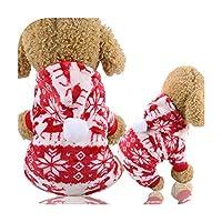 kawayi-桃 クリスマス犬服赤コートパターン犬ペット犬木冬クリスマス服かわいいコート冬秋28-Yellow-XS