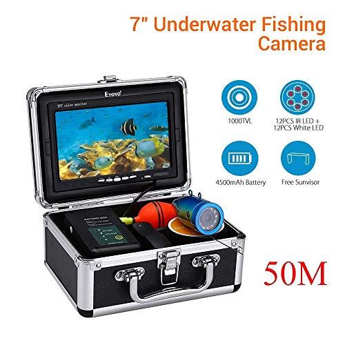 Z-DYQ Telecamera da Pesca Portatile Rilevatore di Pesca 50M, Kit Fotocamera CCD Subacquea A Colori CCD 1000TVL con Display TFT da 7 Pollici, Rilevatore di Pesci Subacqueo Portatile