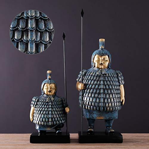 PLL 16.14 Inch Chinese Meubels Huishoudelijke Ornamenten Ovale Terra Cotta Warriors Meubels Retro Office TV Veranda Kabinet Gepersonaliseerde Creatieve Decoratie