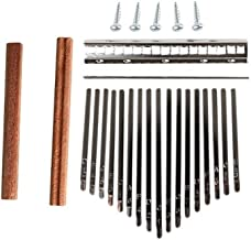 MAODOXIANG Thumb Pianos 17-Key Kalimba DIY Set Wood Bridge Shrapnel Durable Thumb Piano Steel Key Lettering Keyboard Music...