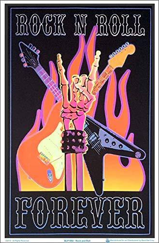 Rock N Roll Forever Blacklight Poster - Flocked - 23