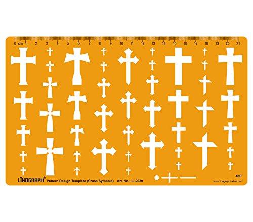 Kreuz Kreuze Vorlage Formen Symbole Zeichnung Drafting Schablonen-Schablone - Schmuck Pattern Design Template