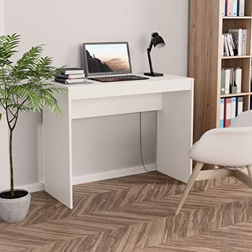 Irfora Schreibtisch Weiss Computertisch Bürotisch PC Tisch Officetisch Klein Arbeitstisch Gaming Tisch Desk Laptoptisch Büromöbel, Weiß 90×40×72 cm