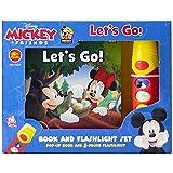 Disney - Mickey & Friends Let's Go - Book and Flashlight Set Pop-up Book and 5 Sound Flashlight - Play-a-Sound - PI Kids