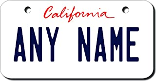 TEAMLOGO Personalized California License Plate - Sizes for Kid's Bikes, Cars, Trucks, Cart, Key Rings