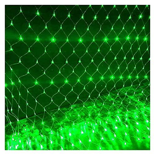 Luces netas de Halloween, 1,5 m x 1,5 m de luz de jardín con energía solar, 96 DIRIGIÓ Luces de cadena 8 Modos, Cable Oscuro Fairy Icicle String Lights, Fence Garden Body Party, 6Purple Guirnalda