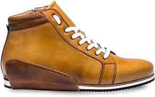 NIRO Mens Hybrid Dress/Casual Hi-Top Sneaker - Hand-Stained Italian Calfskin - Handcrafted in Spain - Medium Width