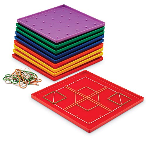 Learning Resources- Geoplano de 5 x 5 (Set de 10), Color (0 LER0153)