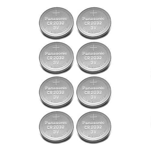 Panasonic CR2032 3V Lithium Coin Battery (Pack of 8)