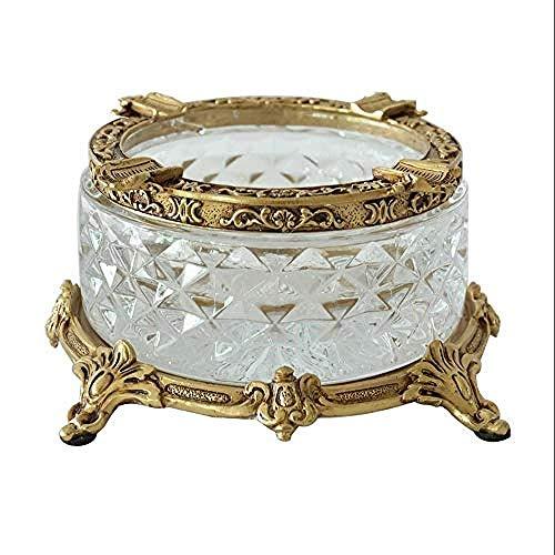LILICEN Cenicero, Decoraciones del Arte del Arte del Vidrio cristalino Oficina Cenicero de Cobre