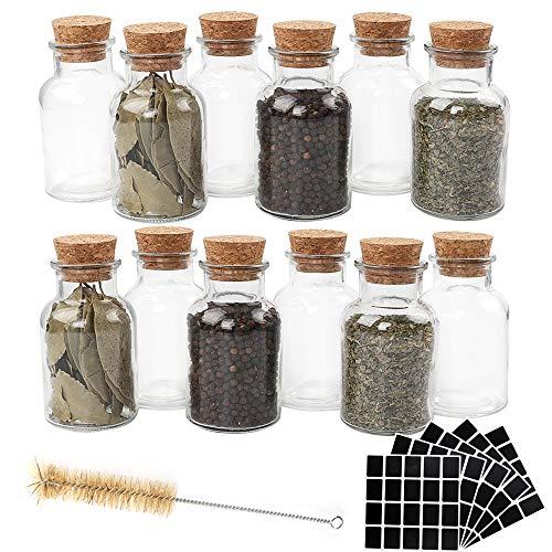 CUCUMI - Botes de Especias de Cristal Reutilizables de 150 ml con...