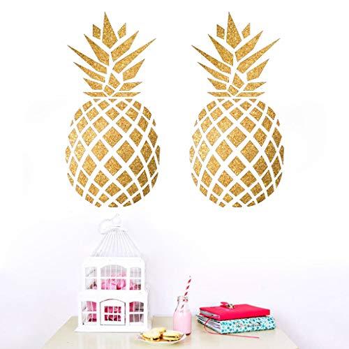 1PCS Neue Kreative Mehrfarbige Ananas Cartoon Wandaufkleber Kinder Baby Zimmer Wanddekoration Graffiti Aufkleber Malerei (Gold)