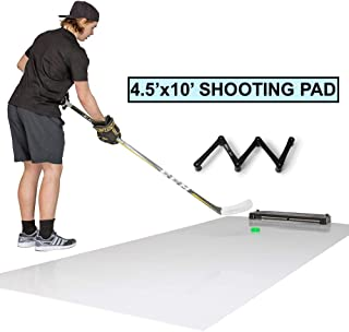 Better Hockey Extreme Skills Kit - Great Training Aid for Shooting, Passing, Puck Control and One Timers - Extra Large Shooting Pad with Puck Rebounder - Versatile Stickhandling Trainer