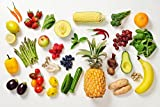 Fruits Vegetables Banana Pineapple Berries Colorful Photo Cool Wall Decor Art Print Poster 36x24