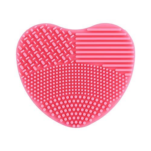 Riuty Brosse de Maquillage en Silicone en Forme de cœur pour Changement de Couleur Rapide et Nettoyage Facile Convient pour Les cosmétiques secs, 02