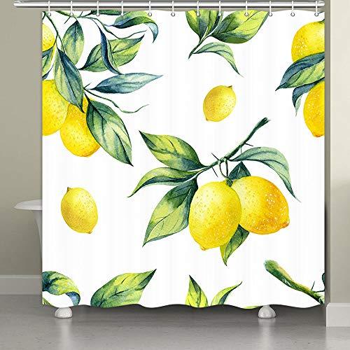 Lemon Shower Curtain Yellow