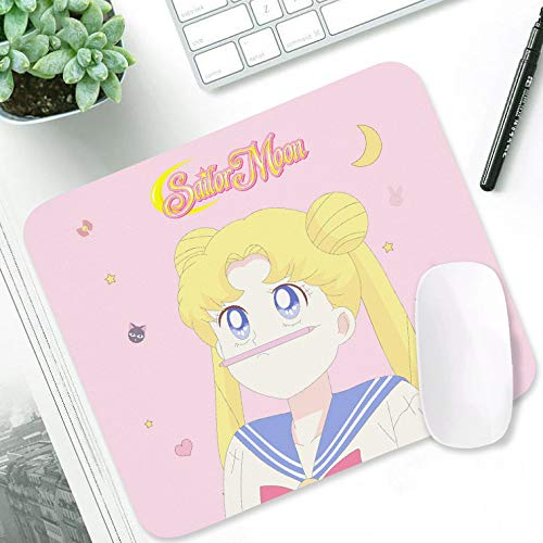 Sailor Moon Kawaii Anime Mouse Pad Game Accessories Desk Pad Pink Gaming Laptop Mouse Pad 10.5x12.5 inch