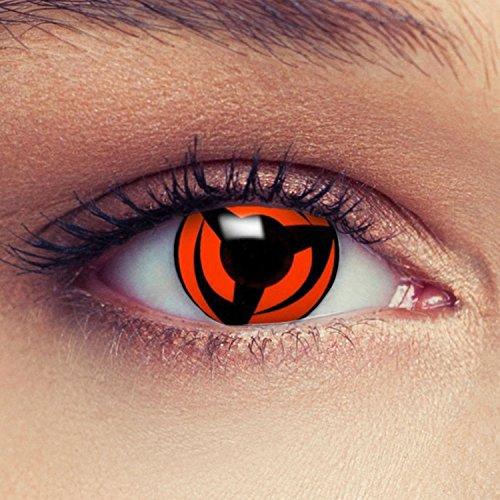 Rote farbige Kontaktlinsen für Naruto Sharingan Hatake Kakashi's Mangekyou Cosplay Farblisnen in rot Design: Naruto 3