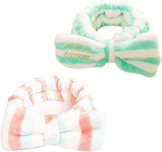 BOLAWOO-77 Båge pannband kvinnor mjukt elastiskt sammet pannband up smink dusch make bad beam handduk